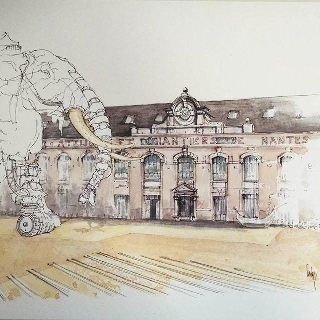 Aquarelle Originale Chateau Du Rivau Tableau Chateau De La Loire