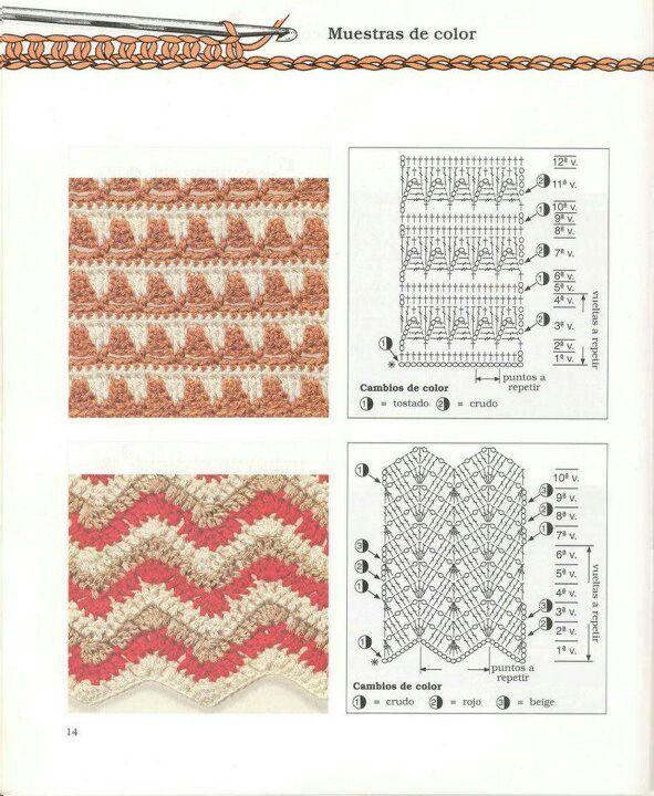 PONTO ZIG-ZAG CARREIRA PASSA FITA | Puntadas 1 | Pinterest | Crochet ...