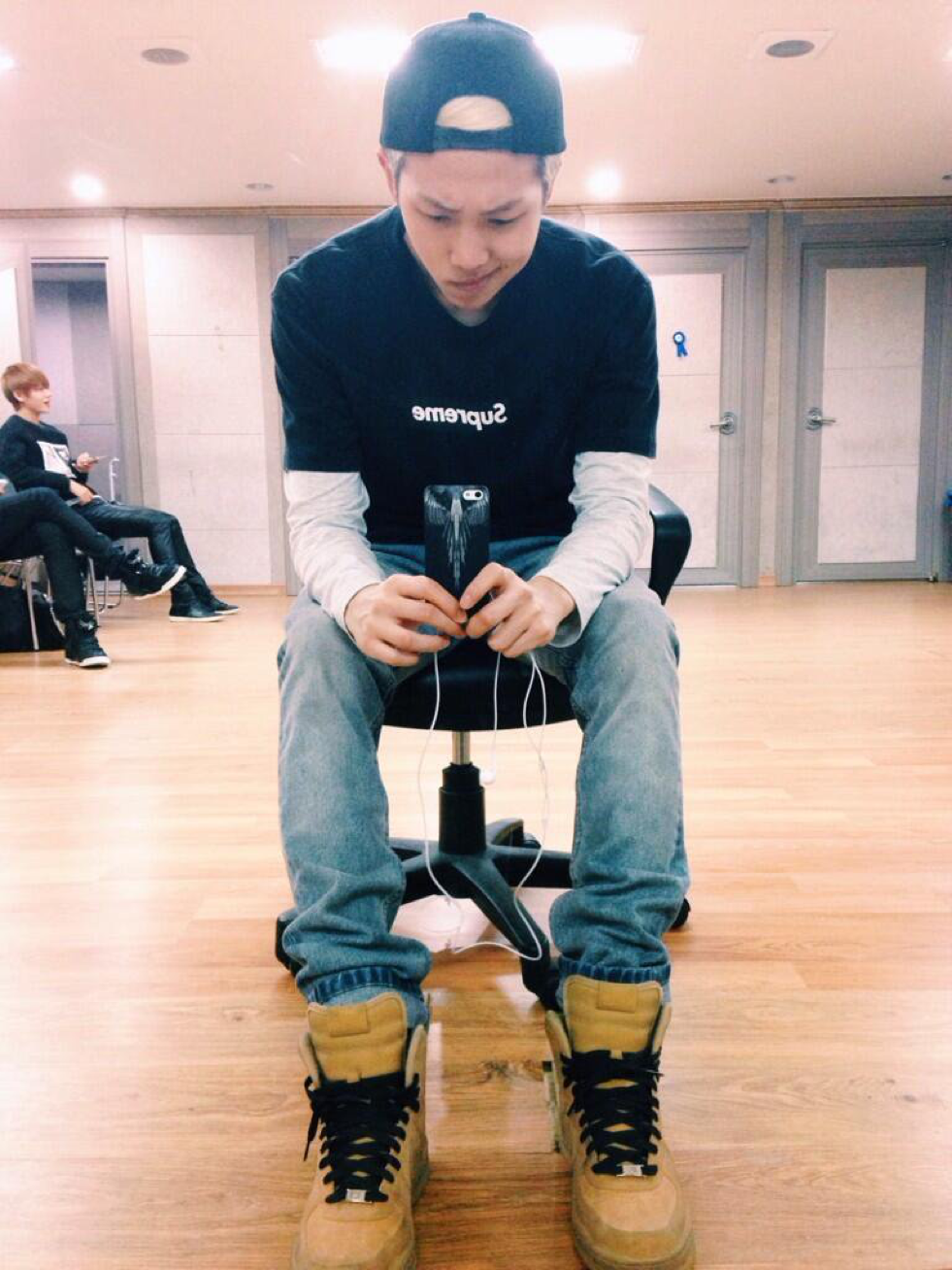 Lol remember when Rap Monster used to dress like this until he started experimenting with fashion xD