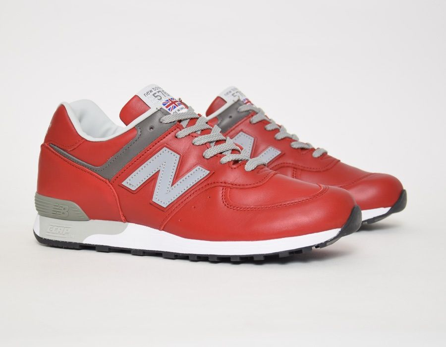 NewBalance 576 RED Leather Made in