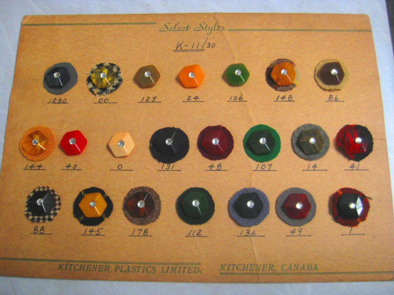 ButtonArtMuseum.com - Collectible Salesman's Sample Bakelite Buttons with Rhinestones | eBay