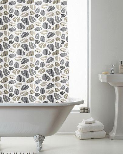 163 7 15 Tesco Direct Country Club Shower Curtain Pebbles 180 X 180cm Shower Curtain Curtains