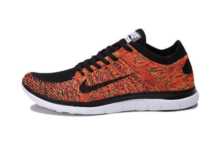 half off 0e3a1 04dde Nike Free 4.0 Flyknit Poison Green Silver Total Orange Black Multi Color