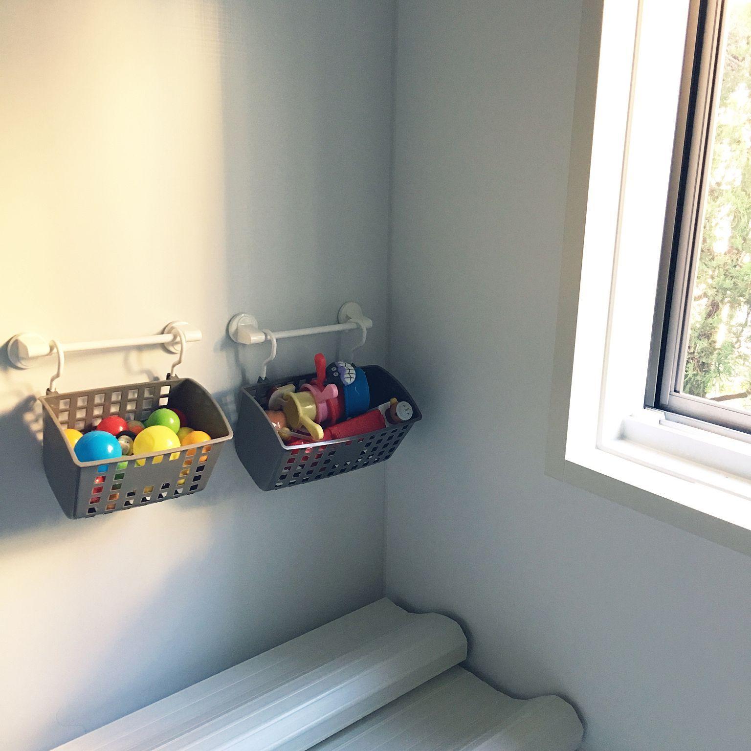 バス トイレ お風呂のおもちゃ お風呂 100均 ダイソー などのインテリア実例 2016 11 01 14 30 05 Roomclip ルームクリップ お風呂のおもちゃ バスタオル 収納 お風呂 おもちゃ