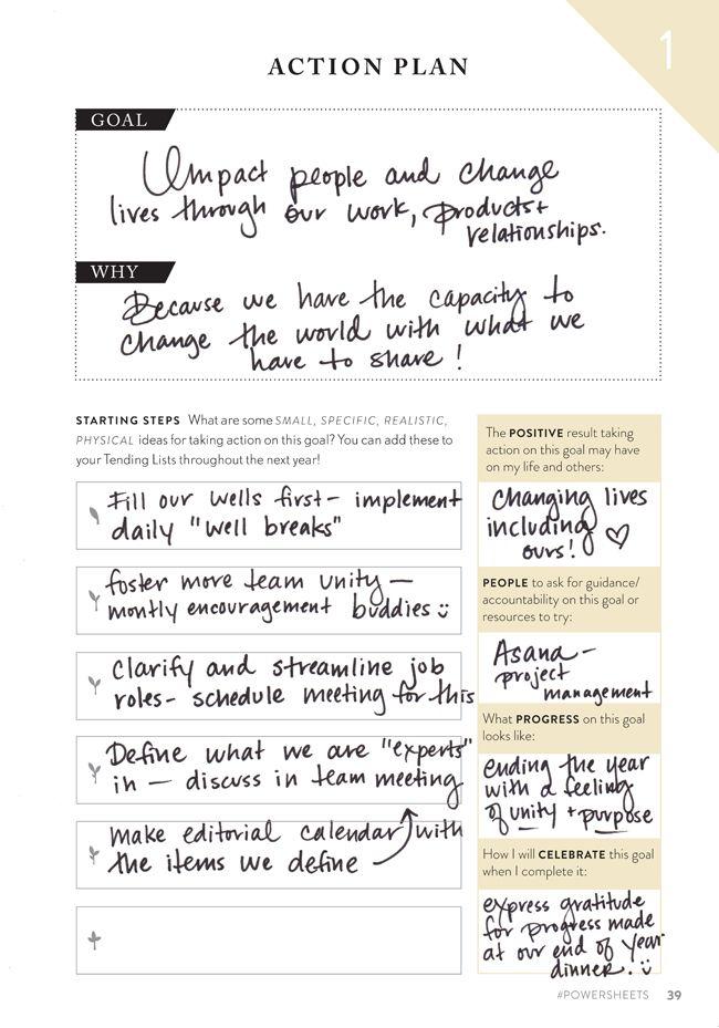 Lara\u0027s Action Plan Worksheets Goals  Motivation How to plan