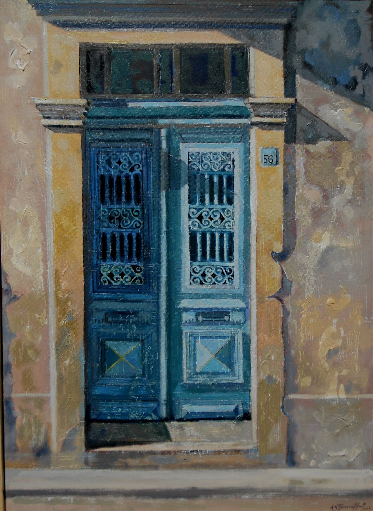 traditional door in Larnaca - Cyprus / ??????????? ????? ???? ???????- ?????? oil on canvas & traditional door in Larnaca - Cyprus / ??????????? ????? ???? ... pezcame.com