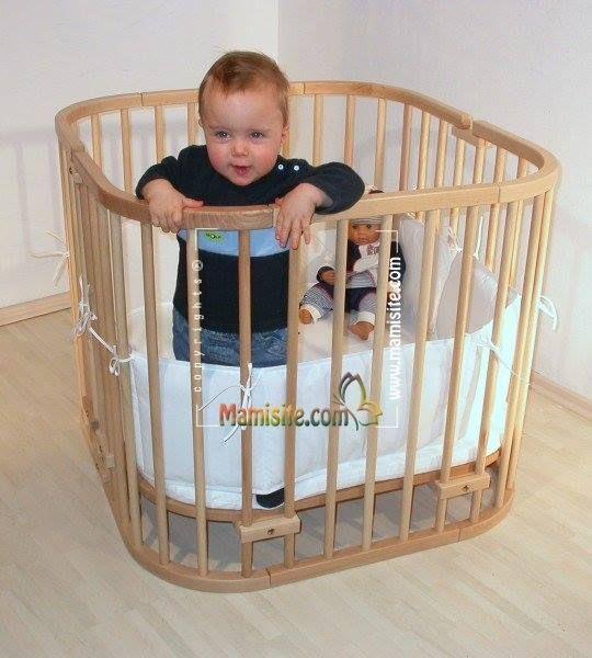 Babybay Original Beside Sleeper Cot Colonial Varnished