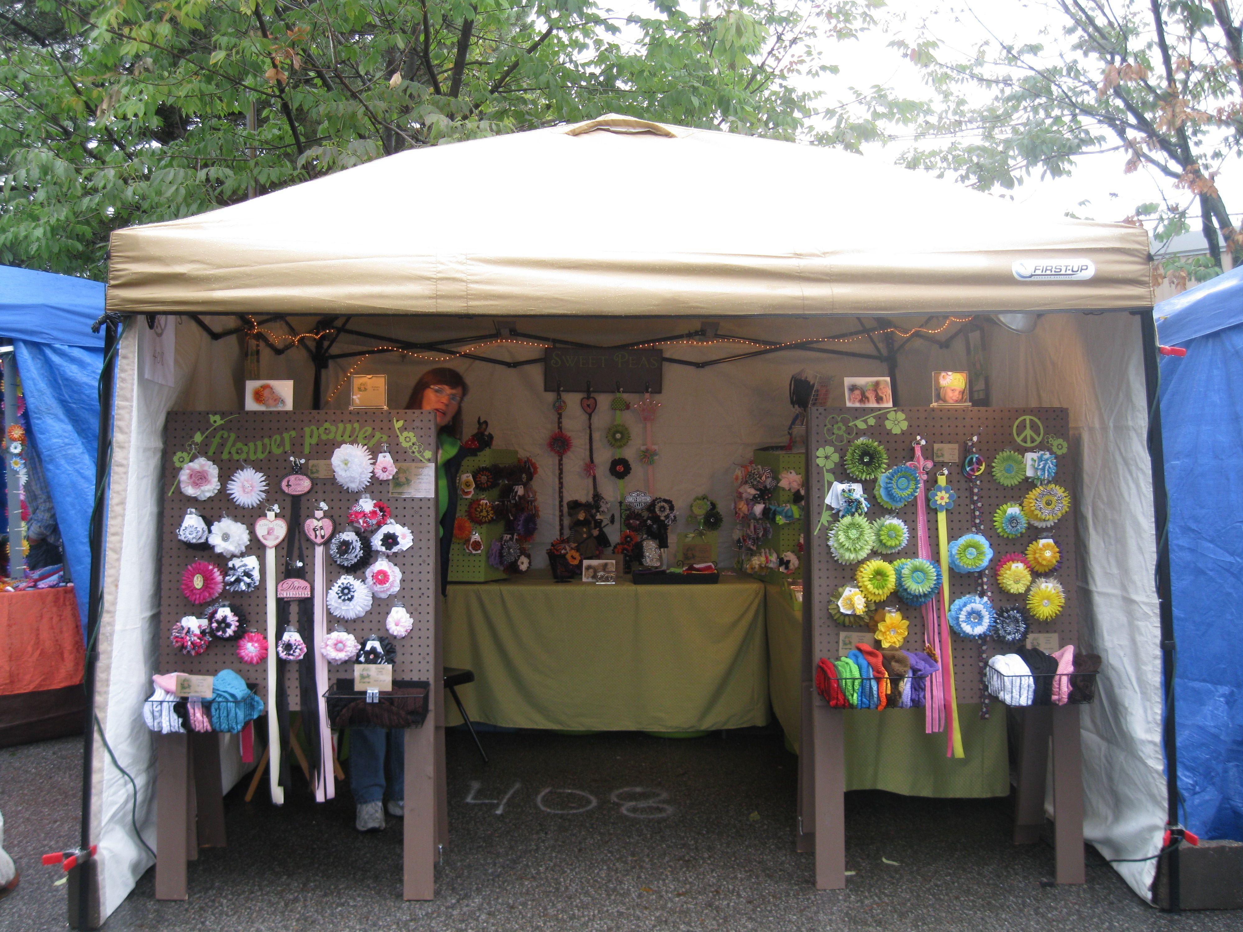 Craft Show display tent & Craft Show display tent | Sweet Peas Hair Accessories | Pinterest ...