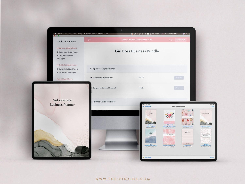 Digital Planner — Digital Planner The Pink Ink Shop in