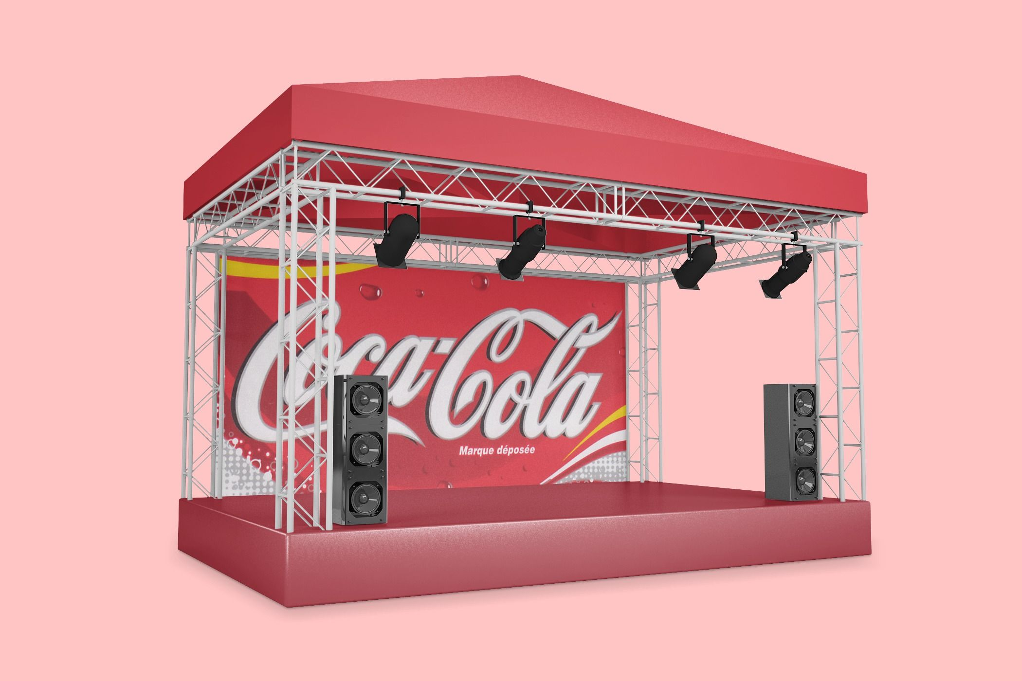 3d Music Concert Stage Mockup Generator Concert Stage Design Concert Stage Stage Lighting Design