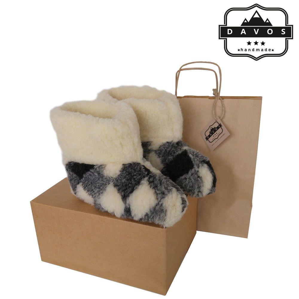 New Grey Premium Men/'s Pure Twin-face Sheepskin Suede Slippers EVA Sole /& Box