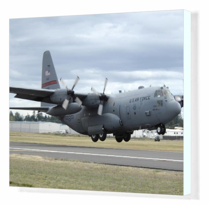 Print Of A C 130 Hercules Lands At Mcchord Air Force Base Washington In 2021 C 130 Hercules Air Force