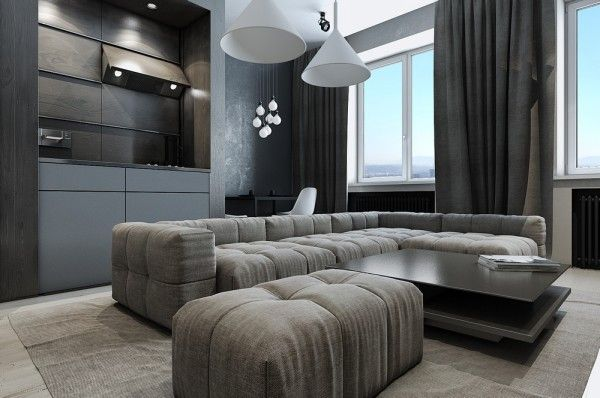 Dark neutral themed interiors ideas  inspiration also interior rh in pinterest