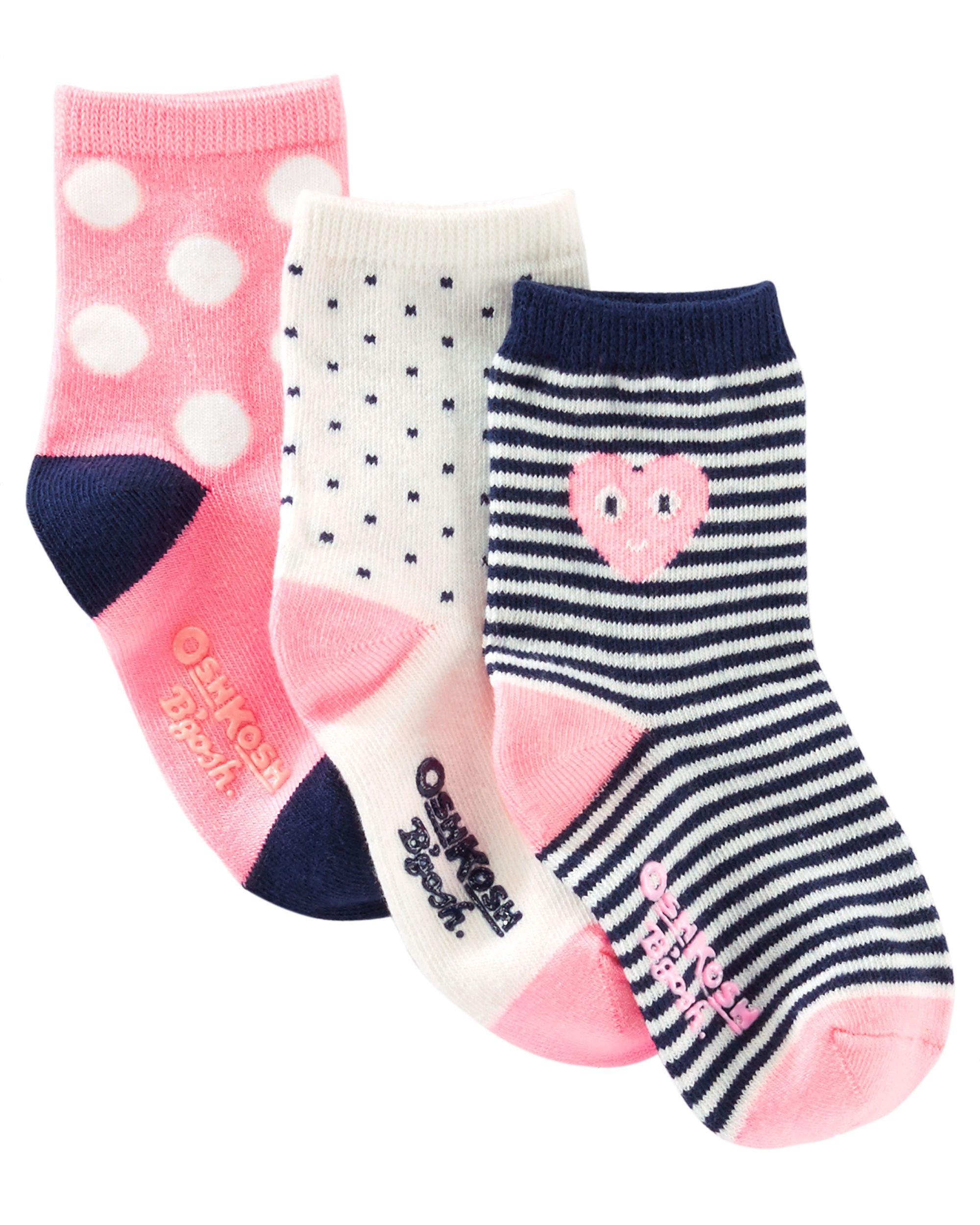 3-Pack Polka Dot Crew Socks | Ropa niña, Bebe y Ropa