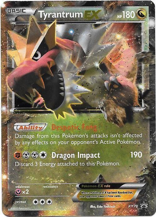 3 95 Tyrantrum Ex Pokemon Xy Promo 70 Mint Ebay