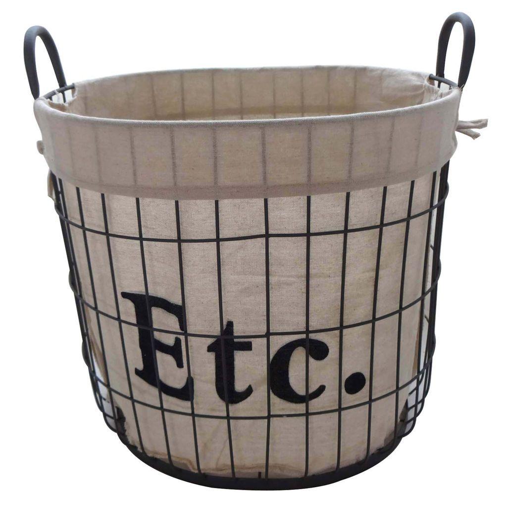 Large Etc Storage Basket With Liner By Ashland Storage Baskets