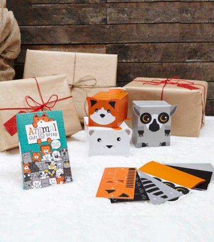 Achetez le kit d'emballage cadeau animaux sur lavantgardiste et réaliser des paquets cadeaux originaux pour un Noël pas comme les autres.