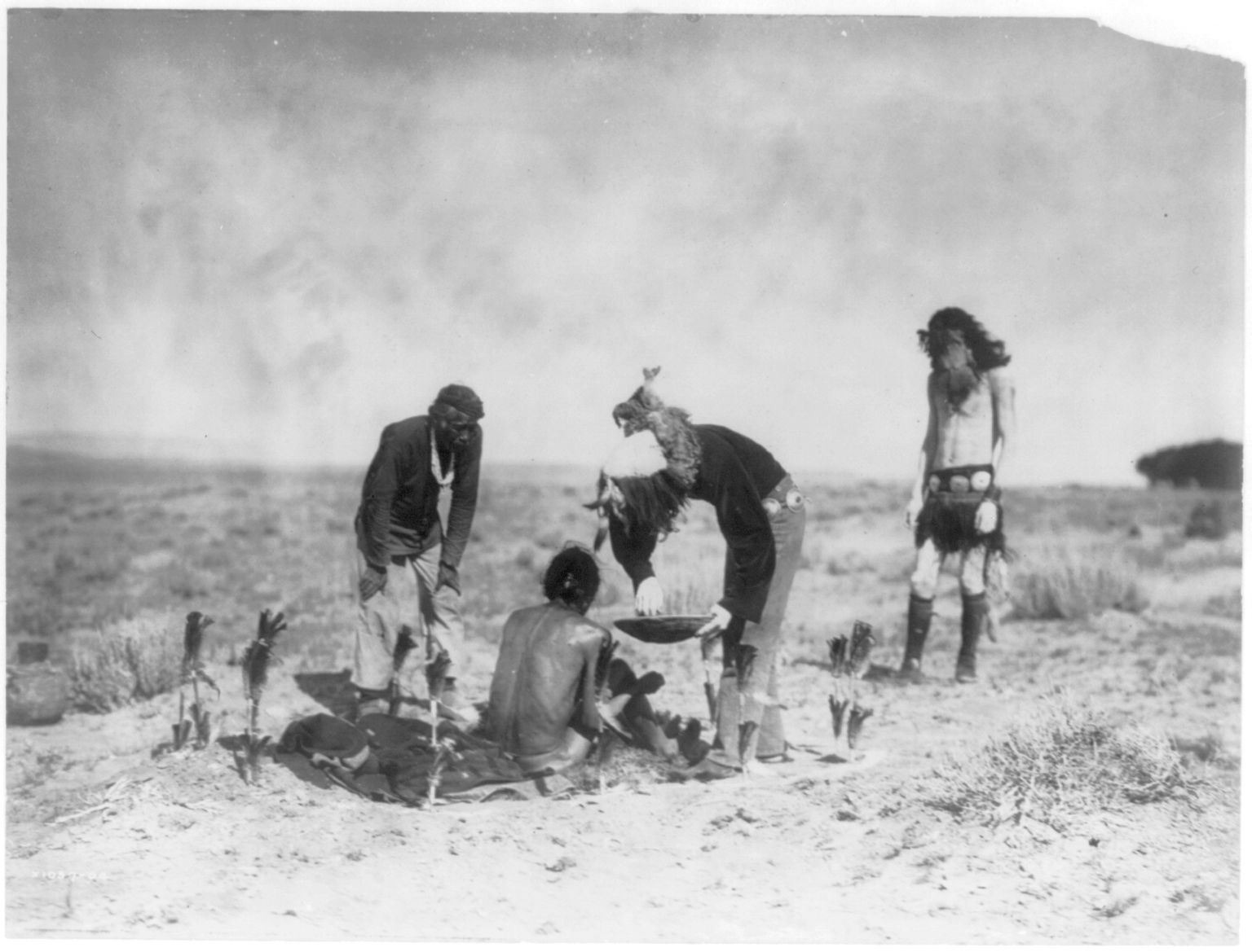 Giving the Medicine, Navajo by Edward Sheriff Curtis