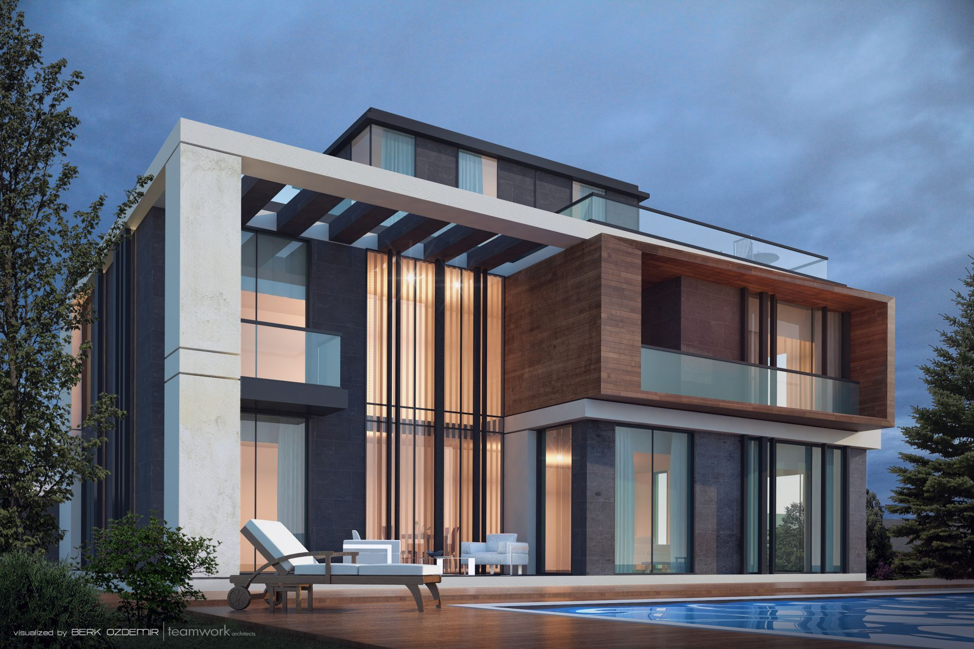 Modern villa design ecuador house ideas rear view for Modern luxury villa design