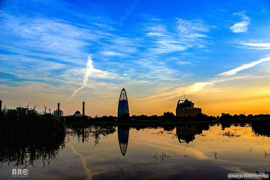 Sunset over the Blue Nile, Khartoum  غروب فوق النيل الأزرق، الخرطوم #السودان   (By Husam Abdulrahim)   #sudan #khartoum #bluenile #sunset #nile