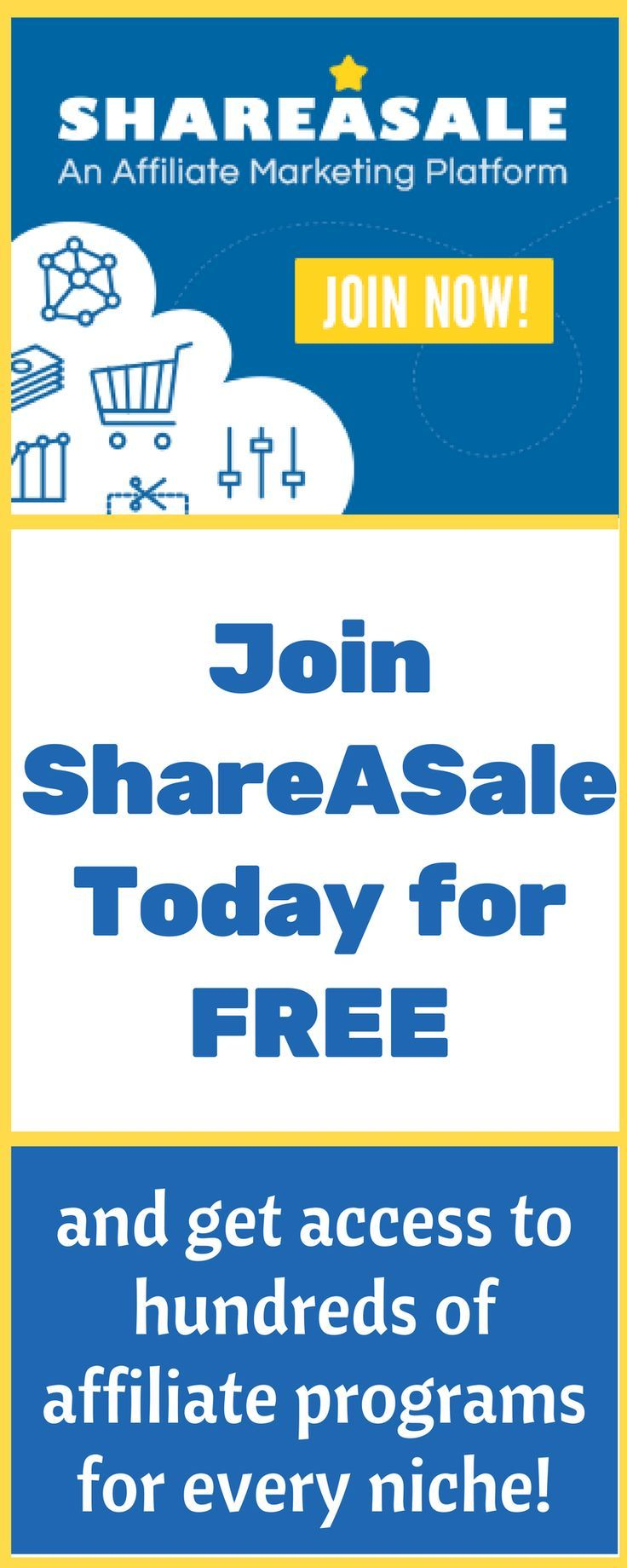 Join ShareASale for free today and access hundreds of