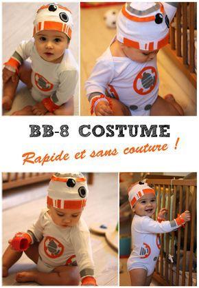 DIY fêtes Déguisement BB-8 facile sans couture \u2013 MamanDIY Costume - diy infant halloween costume ideas