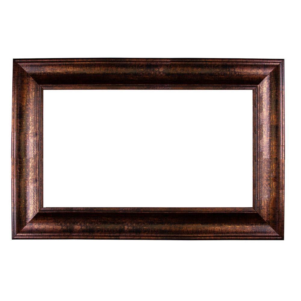 Mirrorchic Laguna 60 In X 36 In Mirror Frame Kit In Bronze Black