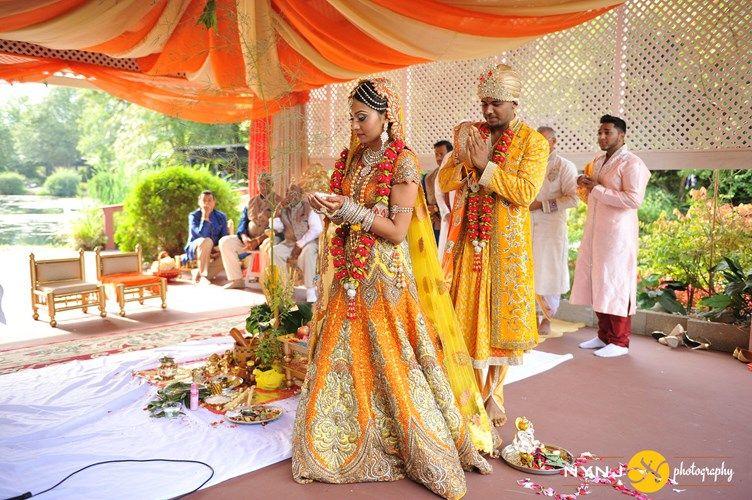 A Splendid Outdoor IndoGuyanese Wedding New Jersey
