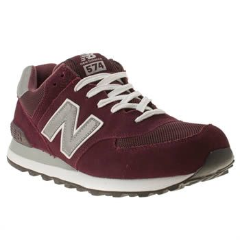 womens burgundy 574 new balance