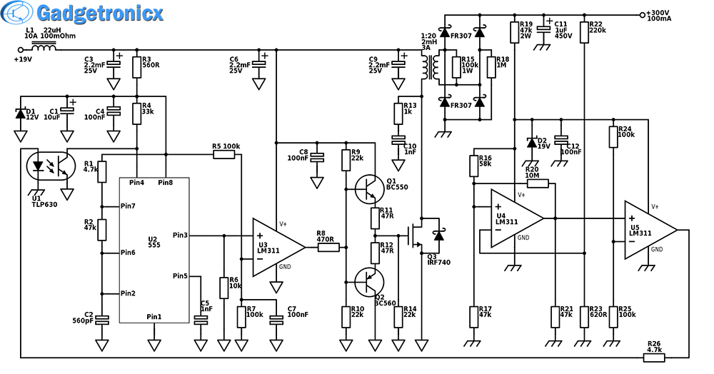 high power boost converter circuit diagram circuit diagram and diagram