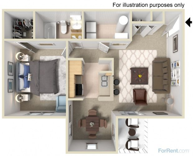 Ambercrest Apartments Features Efficiency Studio Apartments One