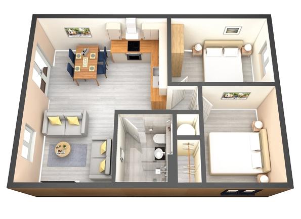 2 Bed Granny Annex Granny Annexe House Layout Plans Garage Conversion Granny Flat