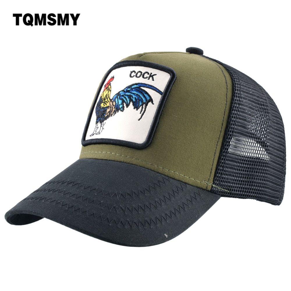 99efe428116775 TQMSMY Summer Mesh Embroidery Animal Cotton Men Cock Baseball Cap Hats For  Women Snapback Gorras Trucker