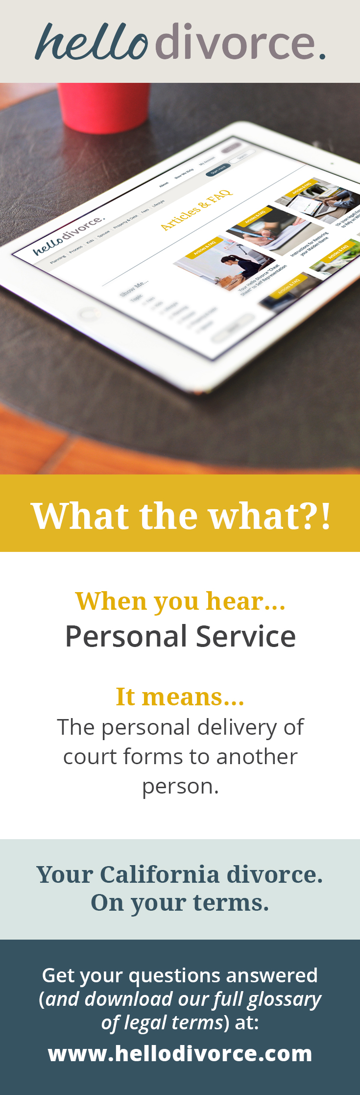 What Does Personal Service Mean Legalese Can Be So Hard To Understand That S Why We Created A Glossary Dissolution Of Marriage Divorce Forms Divorce Process