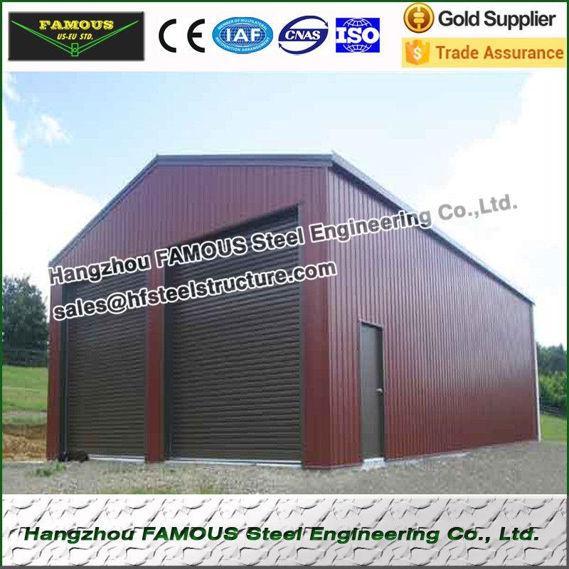 15 m longueur 10 m largeur 4 m hauteur structurels en acier hangar