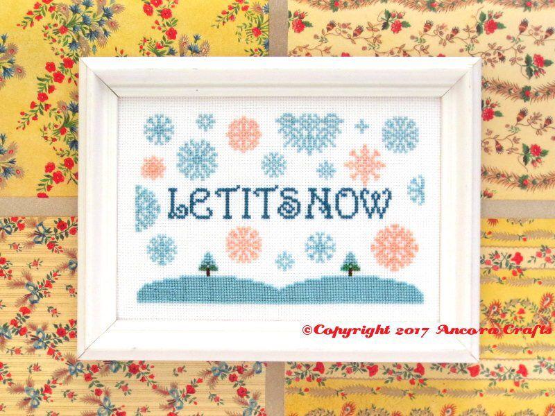 Let it Snow Christmas SNL Celebrity Jeopardy Cross Stitch Pattern