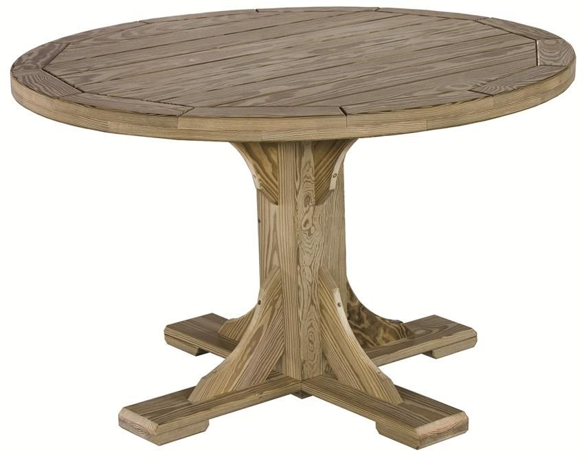 Great Amish Pine Wood Folding Round Patio End Table
