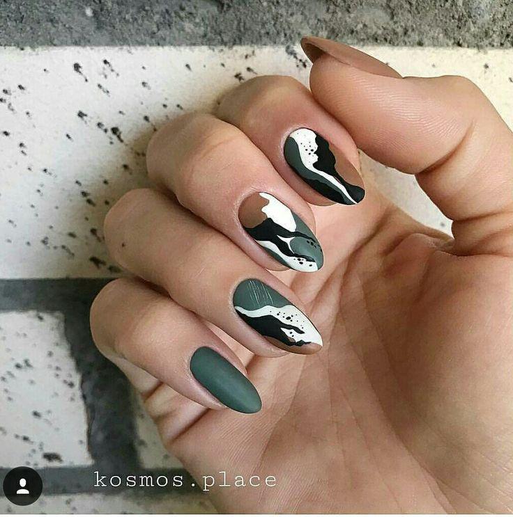 Nail Inspo Camo nails, Gel nails, Toe nails