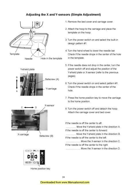 Necchi EC100 Sewing Machine Service Manual Includes Adjusting - operating manual template