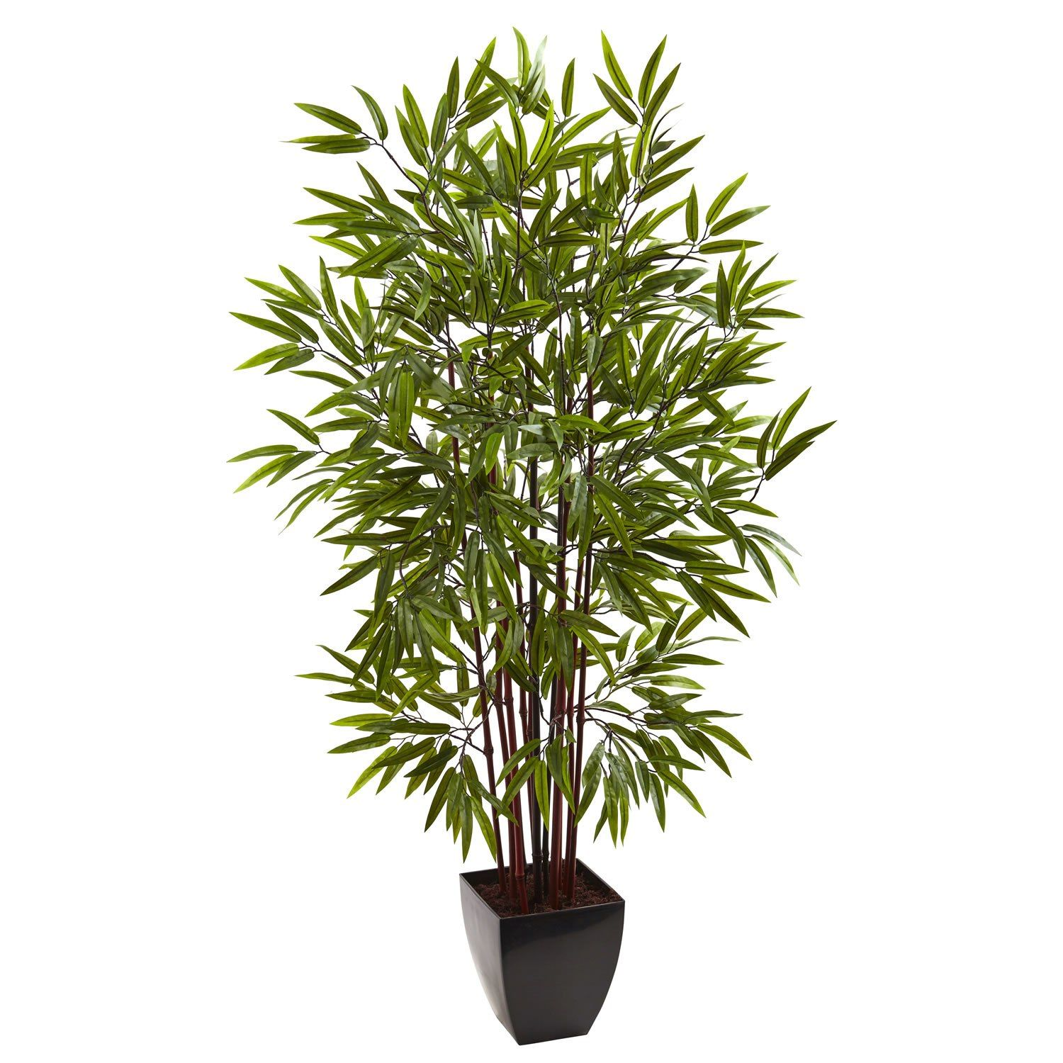5' Bamboo Silk Tree with Planter Artificial plant wall