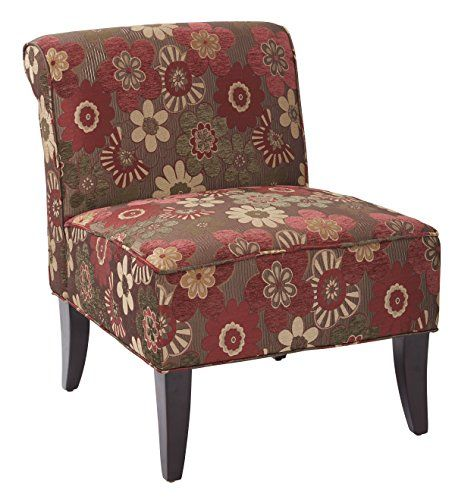 Ave Six Naomi Chair Scarlett Merlot Accent Chairs