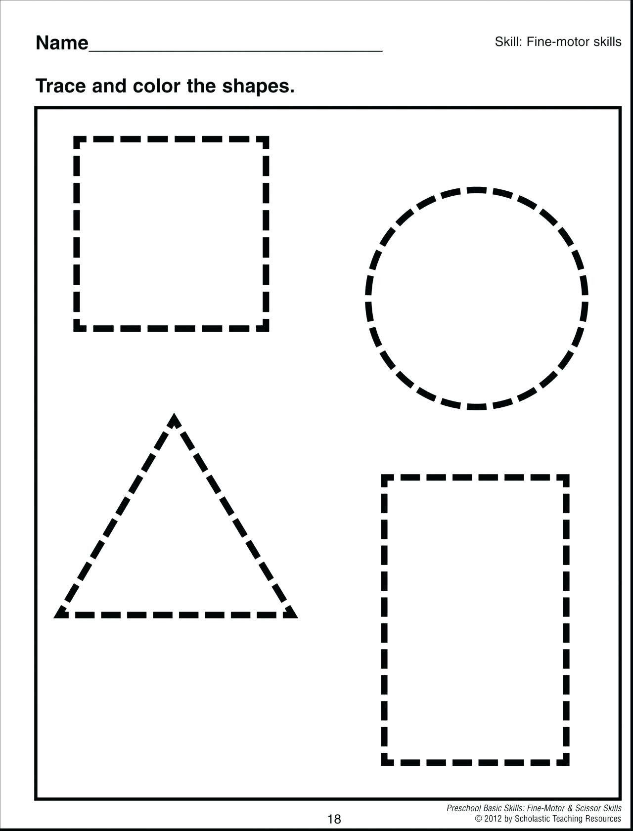 5 Shape Worksheets For Preschool In