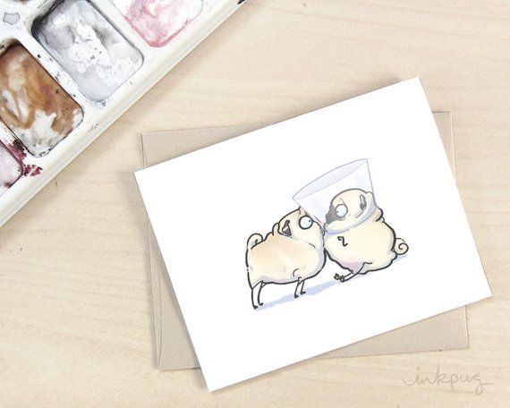 Now Funny Get Well Card Pug Get Well Soon Card Dog Get Well