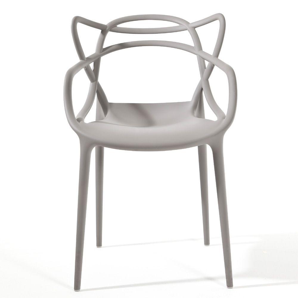 Masters Stuhl In Grau   Kartell   Philippe Starck U0026 Eugeni Quitllet