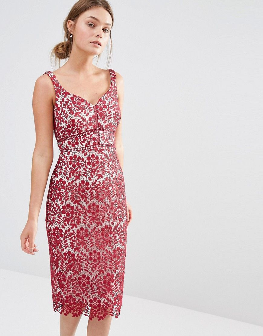 Image 1 of Coast Blakeley Lace Midi Dress   LACE DRESSES   Pinterest