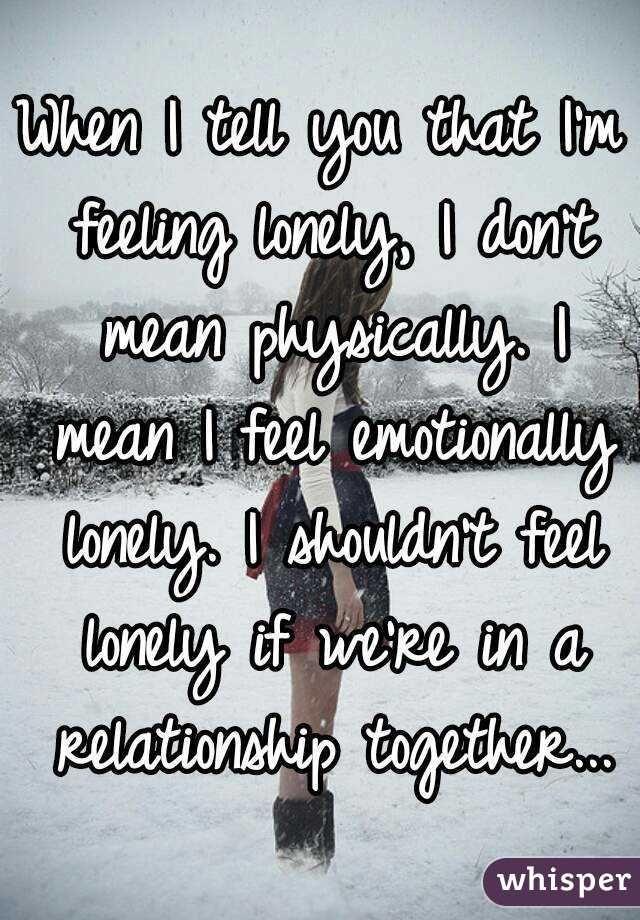 Im feeling lonely