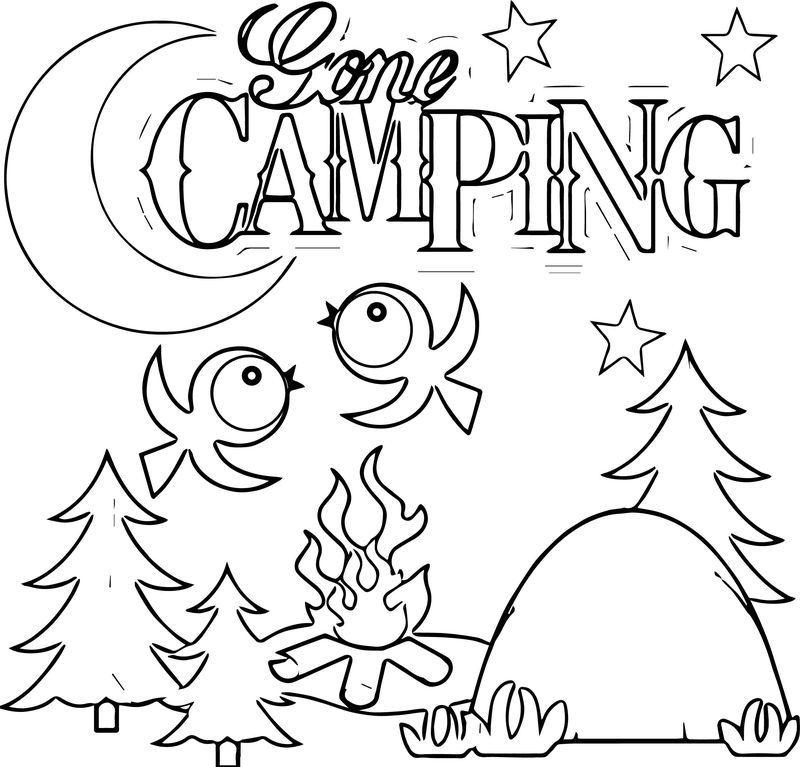 Camping Gone Bird Coloring Page. Also see the category to