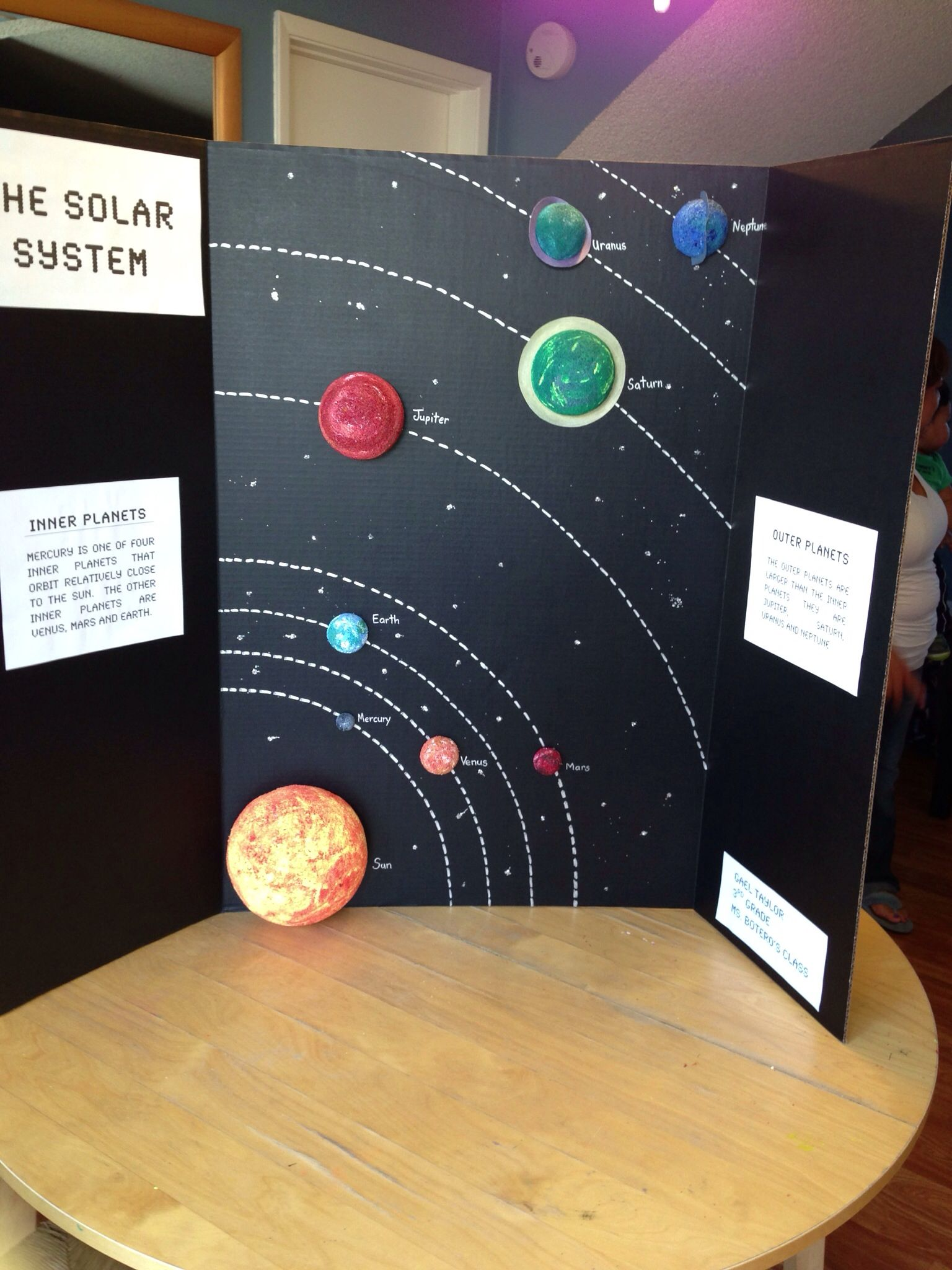 solar system project for science science fair projects finished project