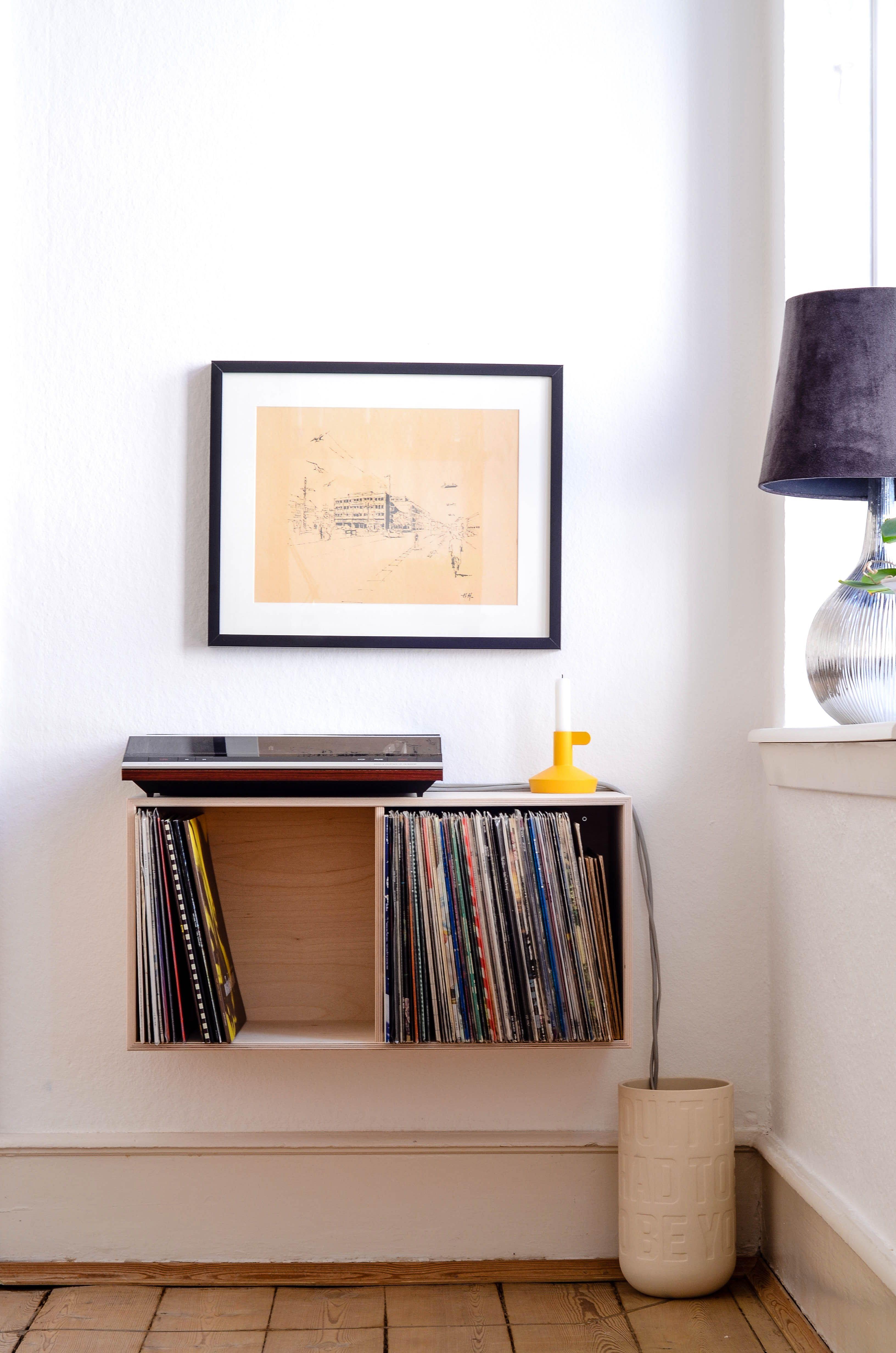 A contemporary way to house vinyl records diy pinterest