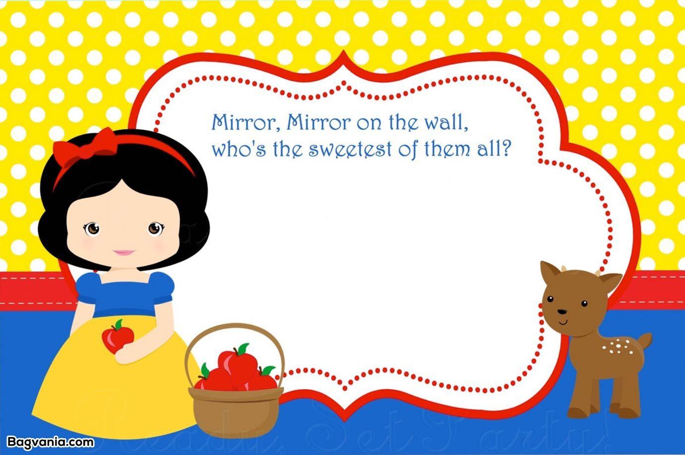 Download Free Printable Snow White Birthday Invitations ...